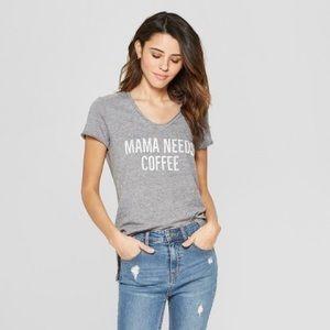☀️ Mama needs coffee hi-low tshirt